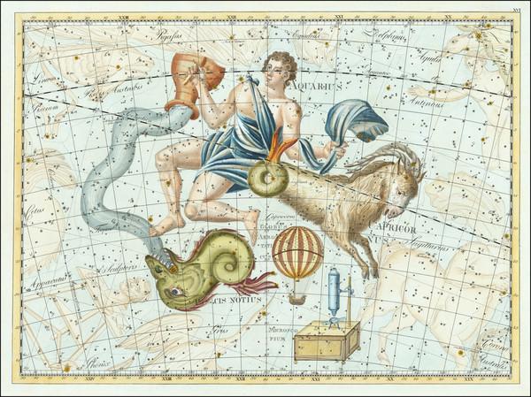 56-Celestial Maps Map By Johann Elert Bode