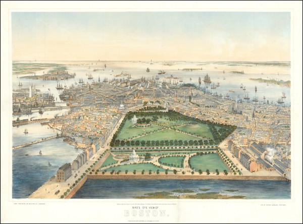 68-Boston Map By John Bachmann