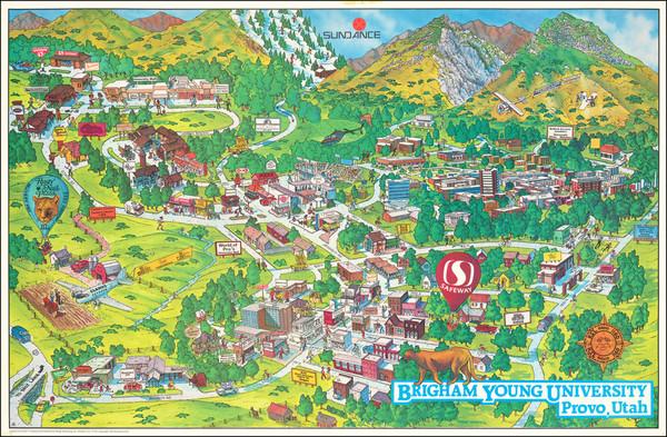 73-Utah, Utah and Pictorial Maps Map By Design Marketing, Inc.