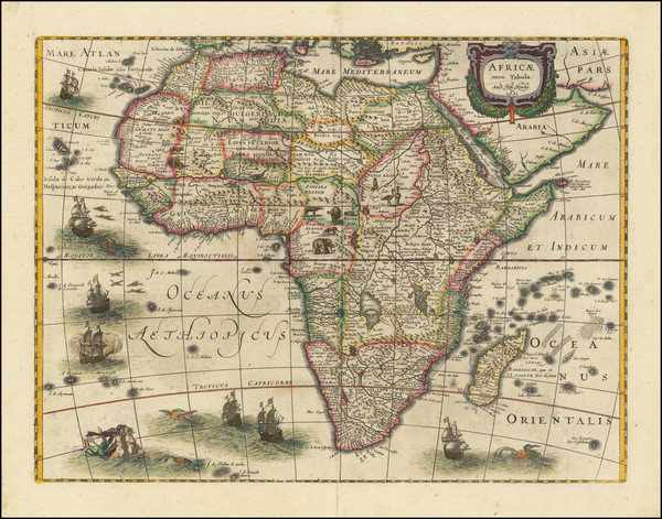 98-Africa Map By Henricus Hondius