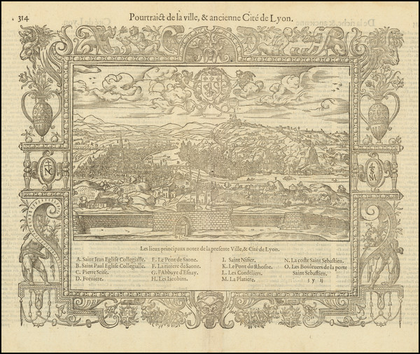 52-Other French Cities Map By Francois De Belleforest