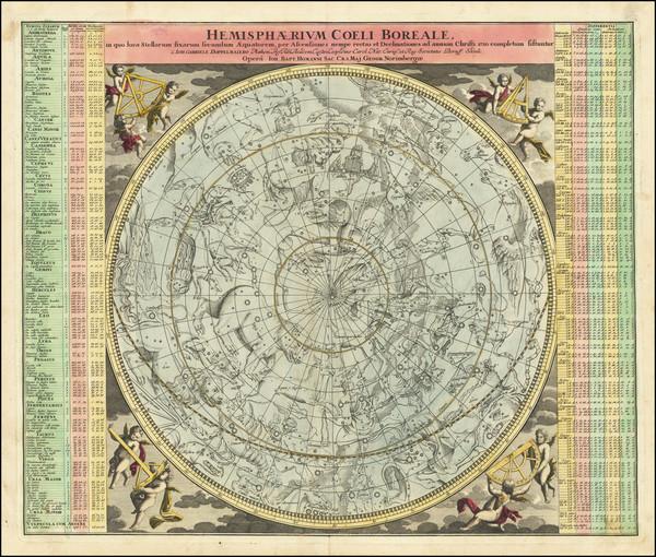 25-Celestial Maps Map By Johann Gabriele Doppelmayr