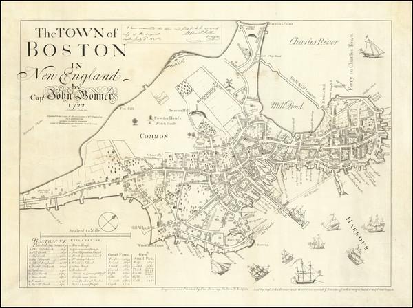 41-Boston Map By John Bonner / George G. Smith