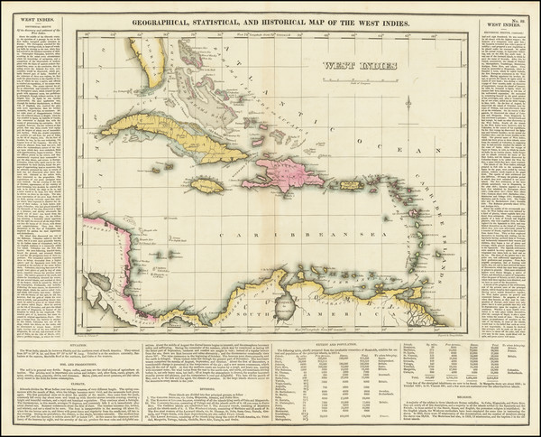 4-Caribbean Map By Henry Charles Carey  &  Isaac Lea