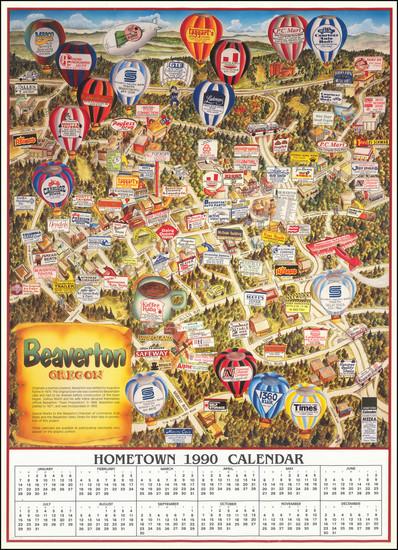 92-Oregon Map By Steve Mee  &  Marty Rowe