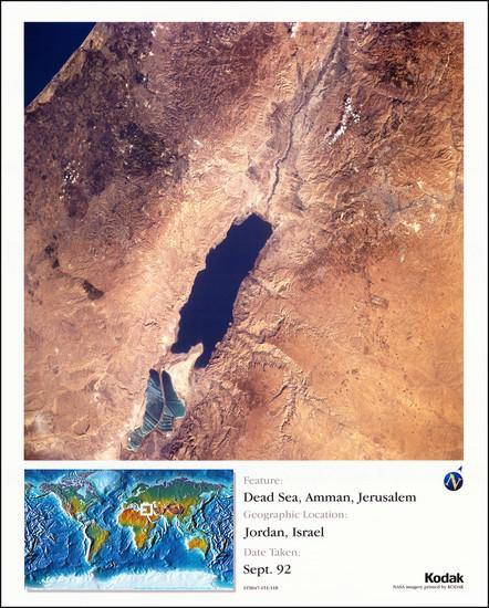 1-Holy Land Map By NASA / Kodak