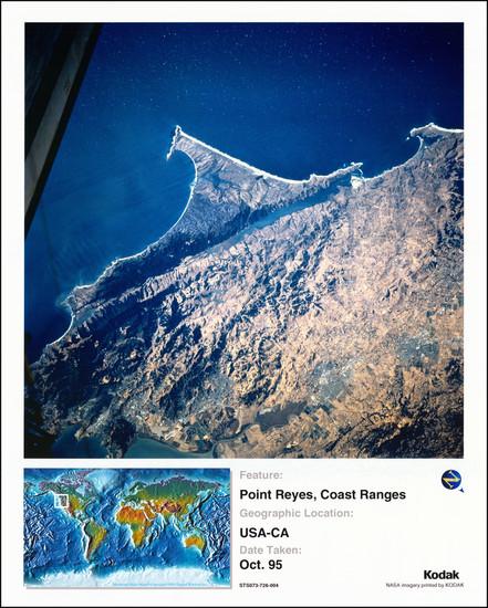 11-San Francisco & Bay Area Map By NASA / Kodak