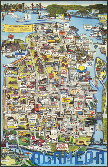 21-Pictorial Maps and San Francisco & Bay Area Map By T.T. Graphics