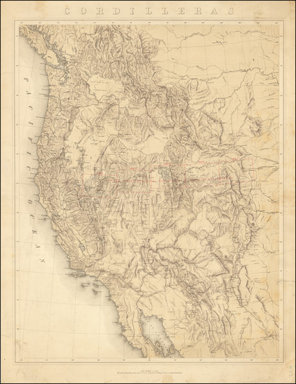 82-United States, Rocky Mountains, Pacific Northwest and California Map By Clarence   King / Juliu