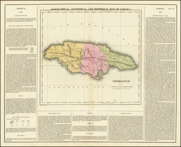 23-Jamaica Map By Henry Charles Carey  &  Isaac Lea
