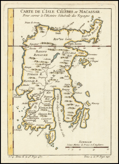 64-Indonesia Map By Jacques Nicolas Bellin