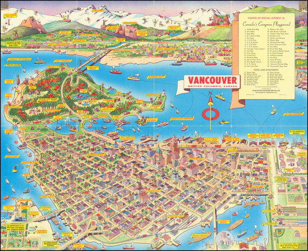 86-Pictorial Maps and British Columbia Map By Don Bloodgood