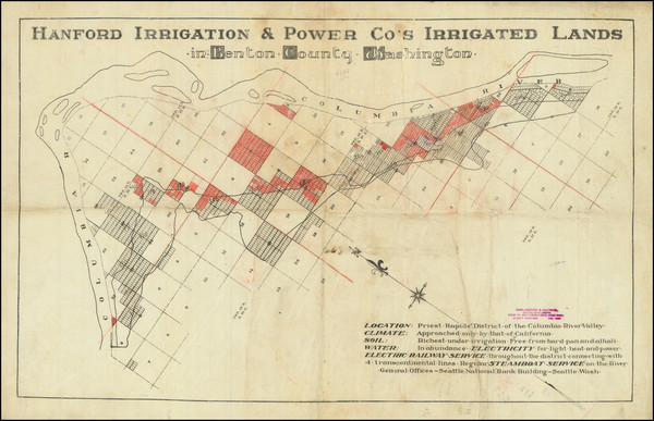 46-Washington Map By Hanford Irrigation & Power Company