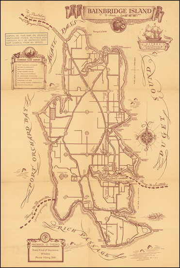 39-Washington Map By Frederick O. Tyszko