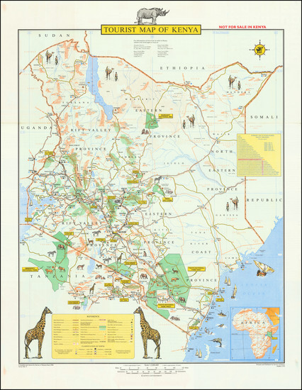45-East Africa and Pictorial Maps Map By Survey of Kenya