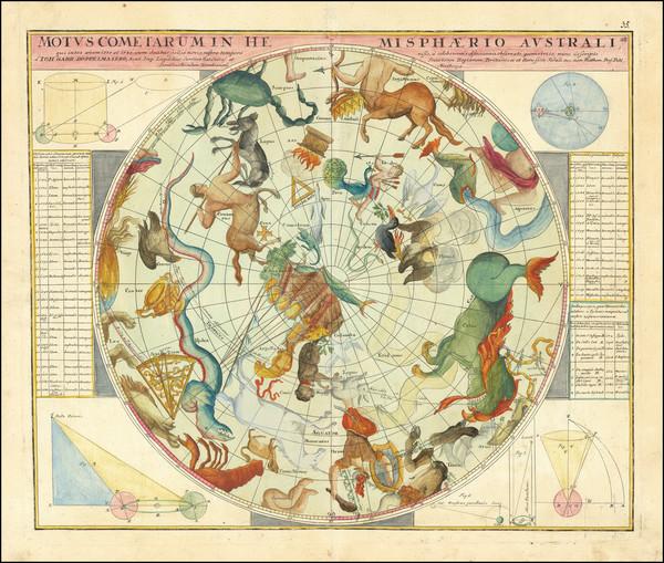 14-Celestial Maps Map By Johann Gabriele Doppelmayr