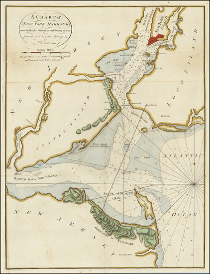 47-New York City and Mid-Atlantic Map By William Mount  &  Thomas Page