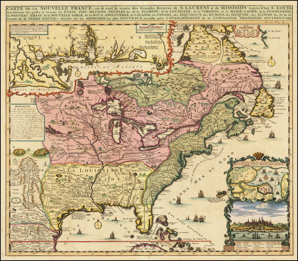 4-United States, South, Midwest and Canada Map By