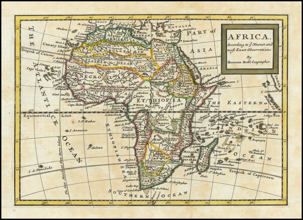 67-Africa Map By Herman Moll