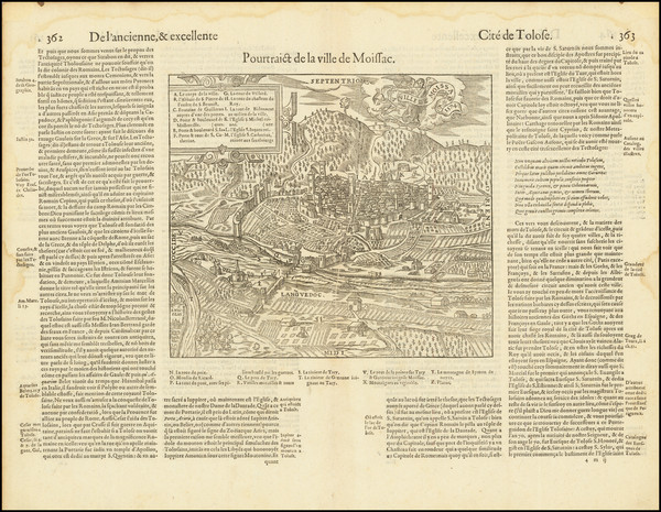 97-Other French Cities Map By Francois De Belleforest