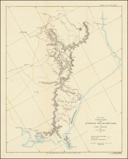 100-Australia Map By John Arrowsmith