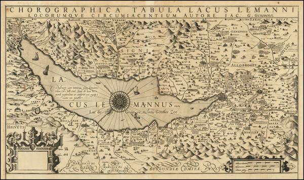 12-Switzerland Map By Jodocus Hondius