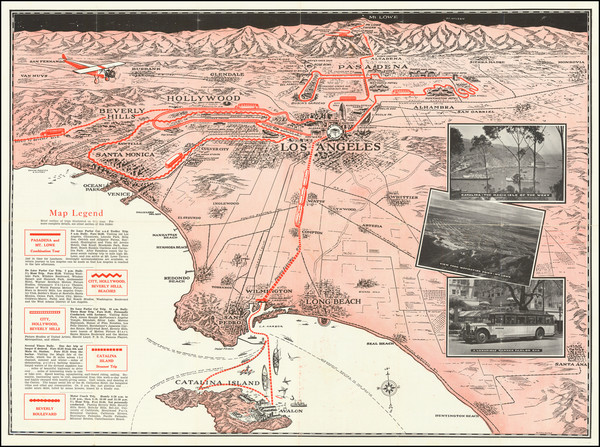 42-Pictorial Maps and Los Angeles Map By W. Calkins