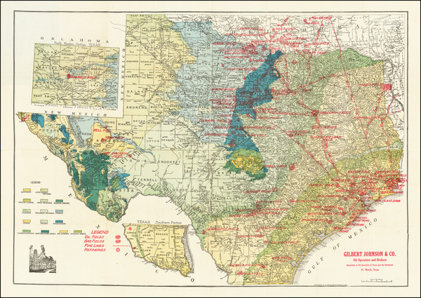 15-Texas Map By F.E. Gallup
