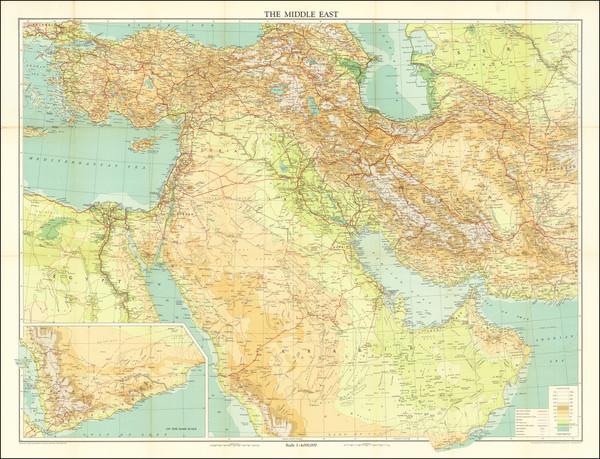 81-Middle East, Arabian Peninsula and Persia Map By John Bartholomew