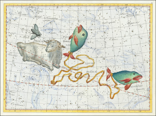 51-Celestial Maps Map By Johann Elert Bode