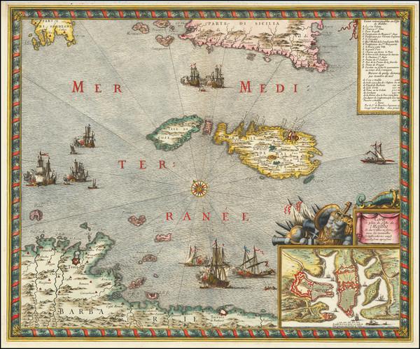 56-Malta Map By Sebastien de Pontault Beaulieu