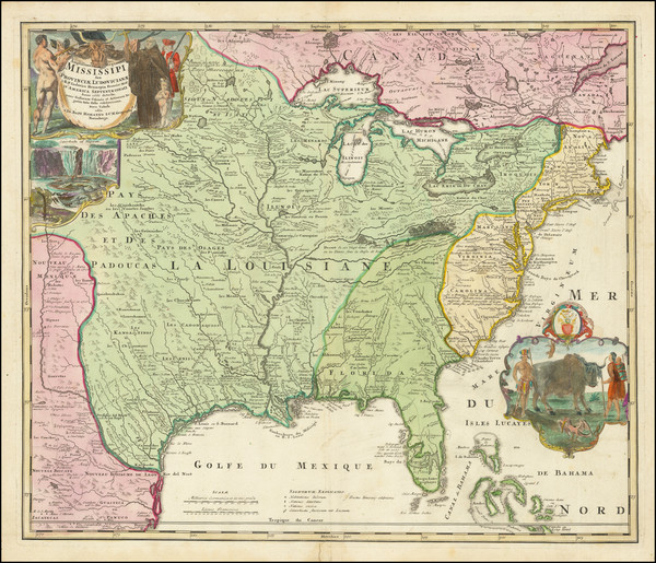 24-United States, South, Southeast, Texas, Midwest, Plains and Southwest Map By Johann Baptist Hom