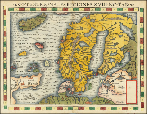 90-Baltic Countries, Scandinavia and Iceland Map By Sebastian Munster