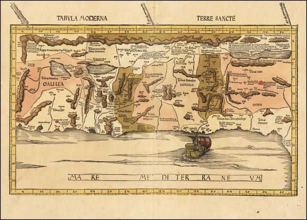 25-Holy Land Map By Martin Waldseemüller