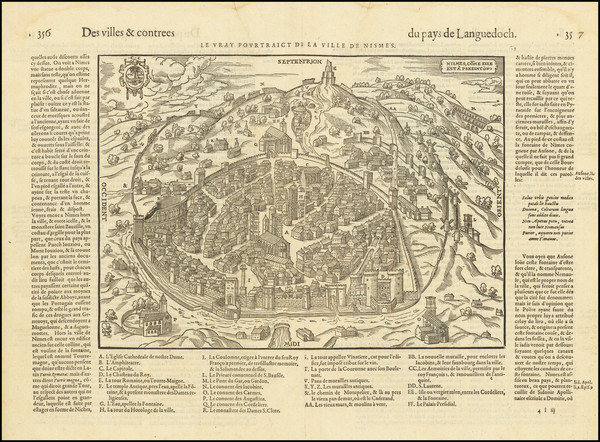 66-Other French Cities Map By Francois De Belleforest