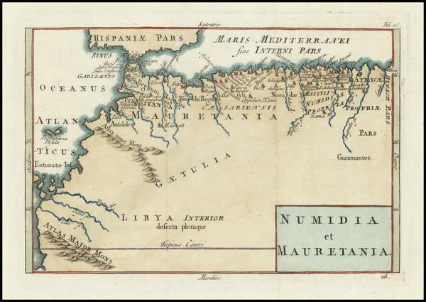 100-North Africa Map By John Senex