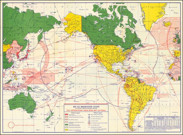 4-World and World War II Map By Rand McNally & Company