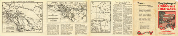 4-California and Atlases Map By The Clason Map Company