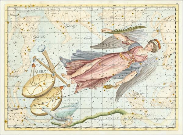 52-Celestial Maps Map By Johann Elert Bode