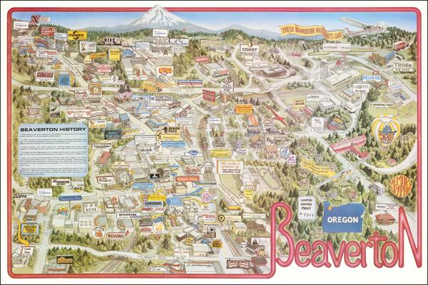 60-Oregon Map By D. Schmieding