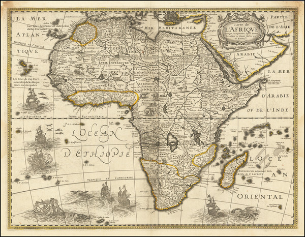 3-Africa Map By Melchior Tavernier