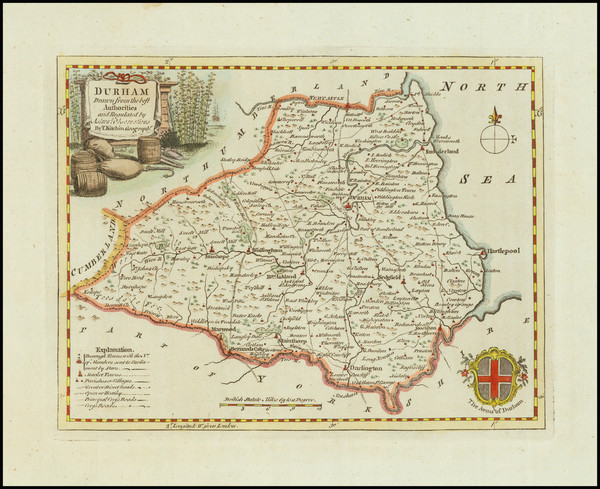 34-British Counties Map By Thomas Kitchin