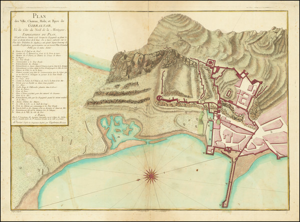 35-Gibraltar Map By S.G. Longchamps