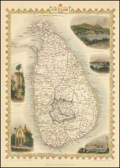 73-Sri Lanka Map By John Tallis