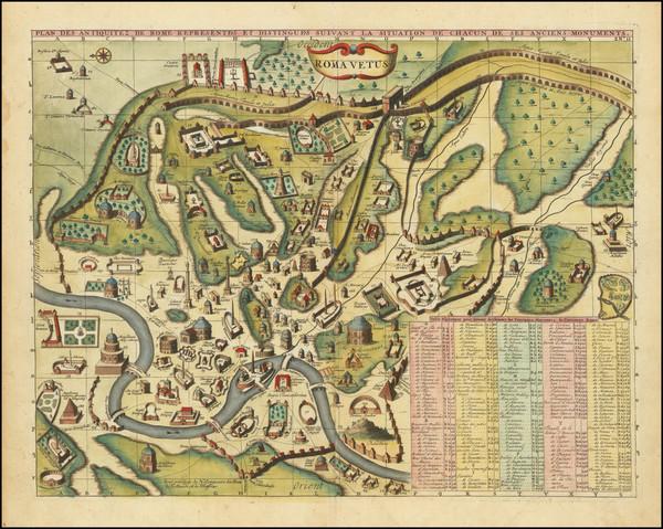 51-Rome Map By Henri Chatelain