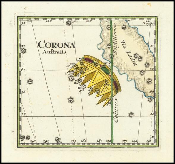 87-Celestial Maps Map By Corbinianus Thomas