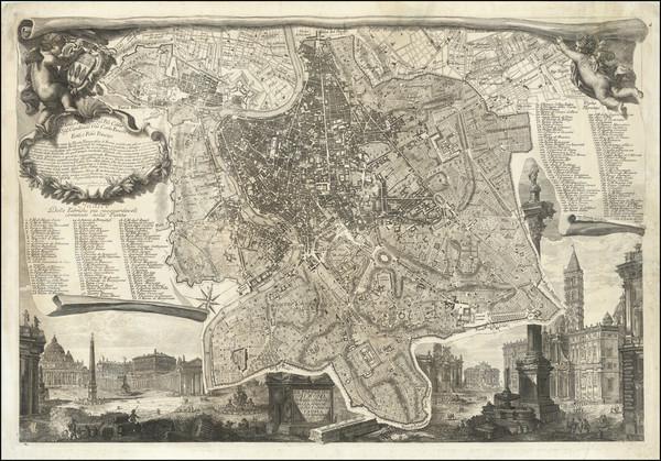 44-Italy and Rome Map By Giovanni Battista Piranesi / Ignacio Benedetti