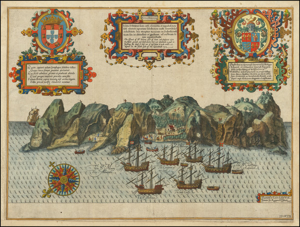 33-Atlantic Ocean, West Africa and African Islands, including Madagascar Map By John Wolfe / Jan H