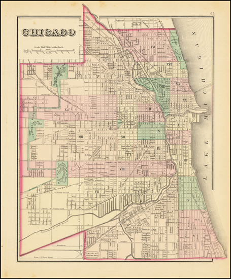 28-Illinois and Chicago Map By O.W. Gray