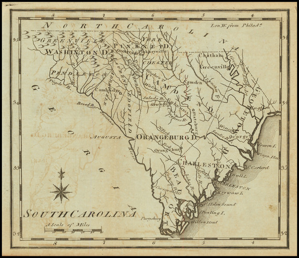 22-South Carolina Map By Joseph Scott